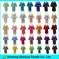 35 Colors Available Blank Kimono Satin