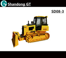 Factory directly supply SHANTUI 80HP SD08-3 mini crawler dozers for sale