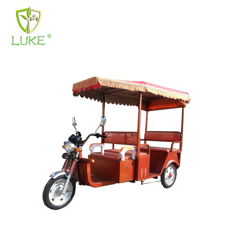650W electric taxi tricycle rickshaw for 4 people cargo trike