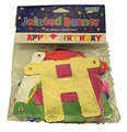 OEM Party decoration happy birthday banners with letter bunting