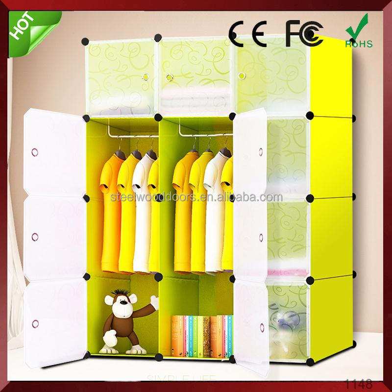 Plastic Simple design metal cabinets sale wardrobe closet