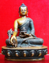 Buddha Statue - Beautiful high quality Medicine Buddha Oxidized Statue Nepal