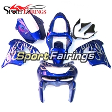 Blue White Flame Complete Fairings For Kawasaki Ninja ZX9R ZX-9R 98 99 Year 1998 1999 ABS Motorcycle Fairing Kit Body Covers