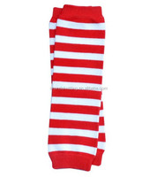 Red With White Plain Baby Cotton Leg warmers