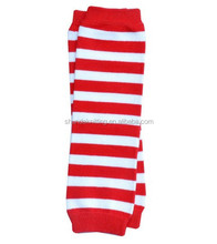 Red With White Stripe Baby Cotton Leg warmers