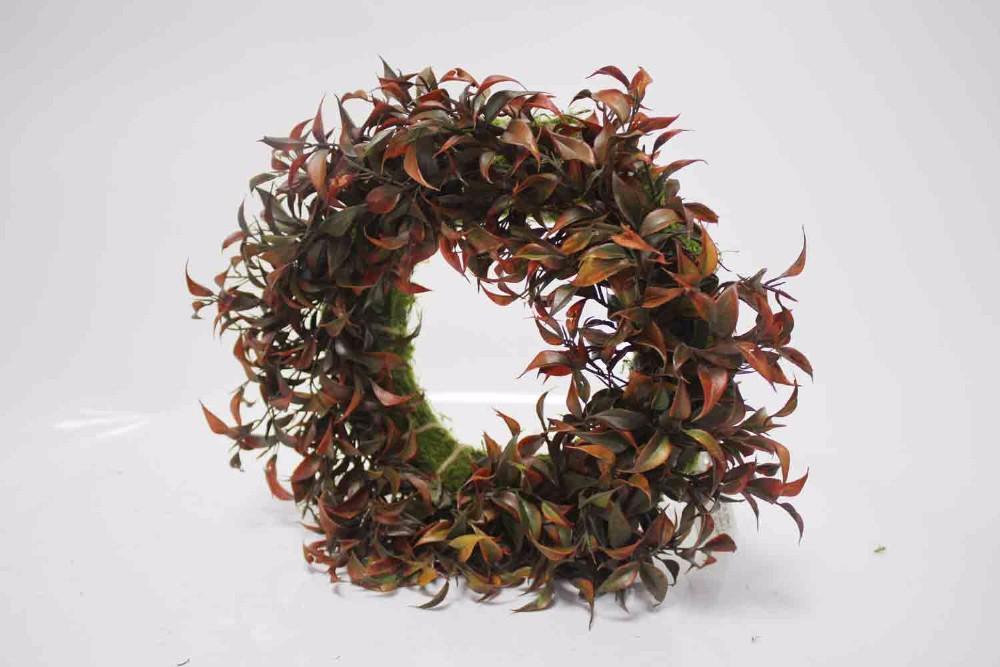 SFB39006-C6067 2017 Spring and Summer Naturally Dried Artificial Boxwood Wreaths Eucalyptus fake flowers leaf faux leaves garlan