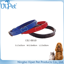 factory wholesale high quality leather dog collar jewelry