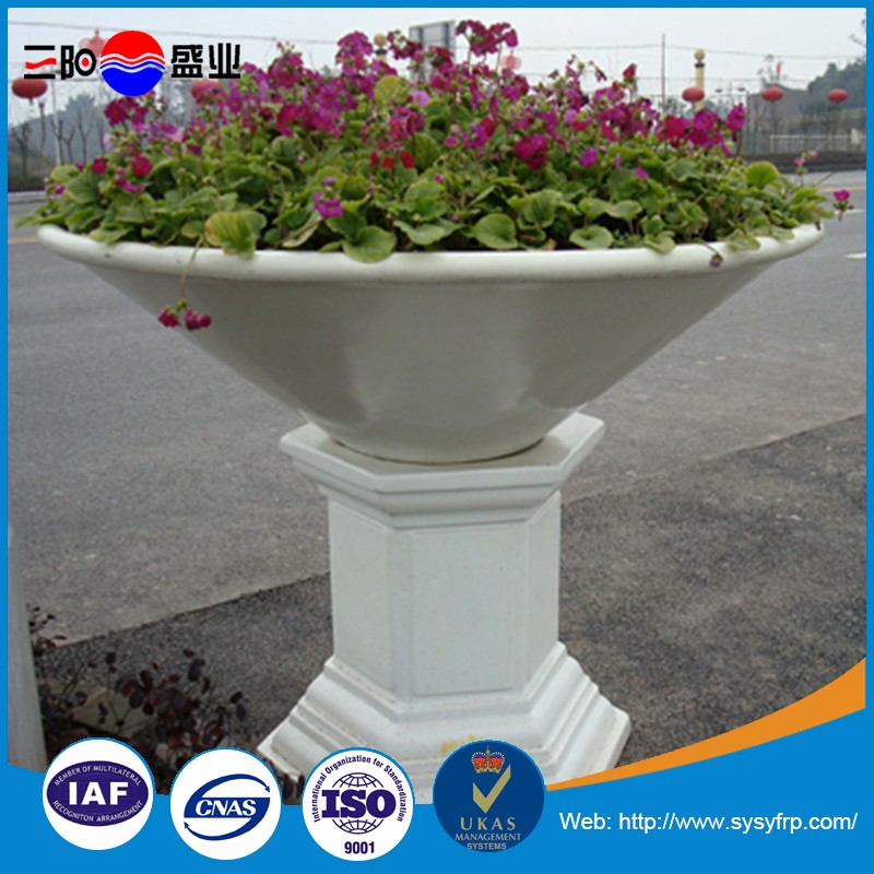 China Supplier Home Decor Garden Fiberglass Planter Flower