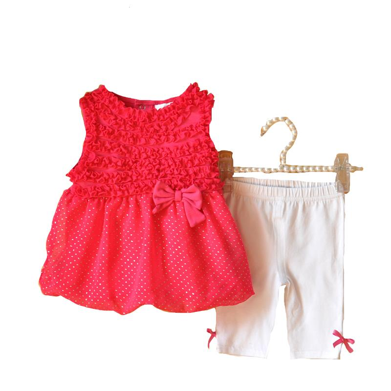 2015 New Fashion Baby Girls Dress Set Summer Clothes For Babies Girl Clothing Set Cute Girl Princess Party Dress