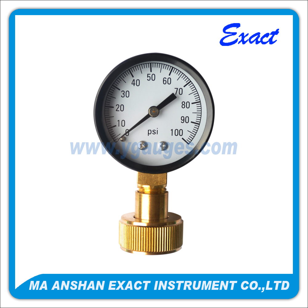 Mini dial low connection water test pressure gauge