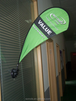 Advertising Suction Cup Teardrop Flag Banner