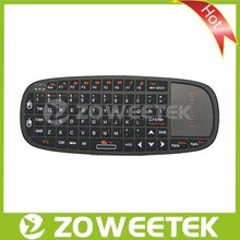 Hot Sell! Universal Smart TV Remote Control Google Arabic Keyboard with Touchpad & Laser Pointer Portable Keyboard Trackpad