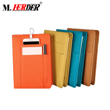 High quality Big capacity Leather notebook with powerbank journal diary notebook