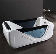Fashion bathroom acrylic massage sitting bathtub