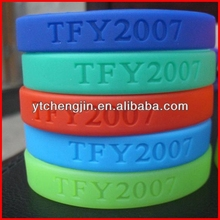political silicone luminous wristbands factory