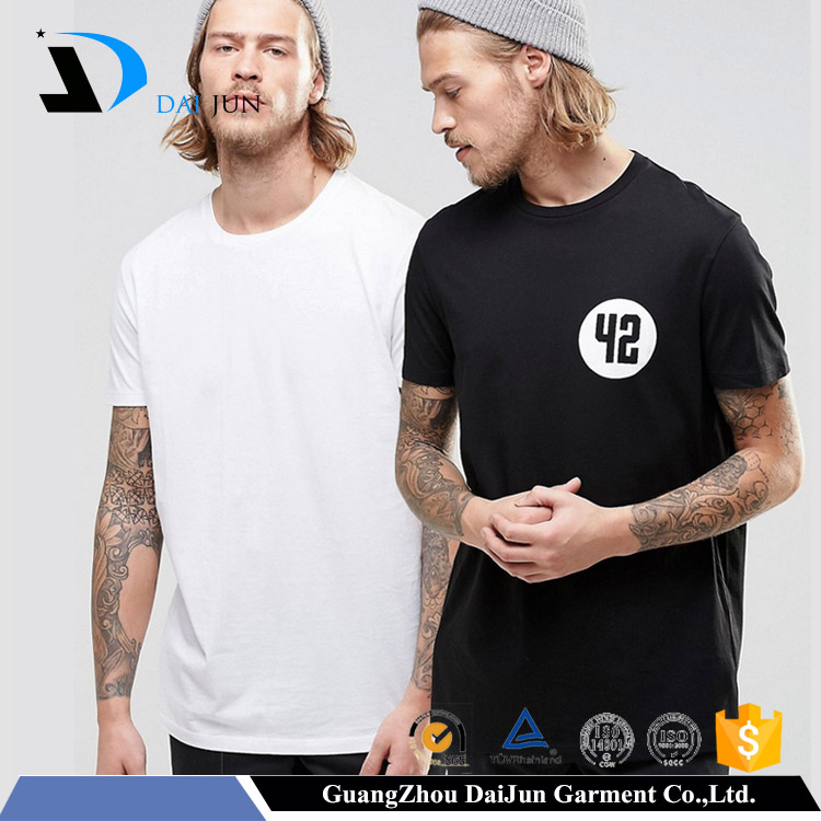 2016 new design black and white preshrunk custom 100% cotton print couple t-shirt