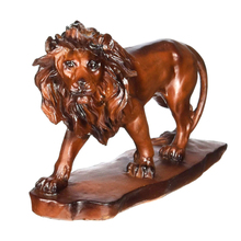 Gold Home Decorative Resin Table Ornament Lion Figurines