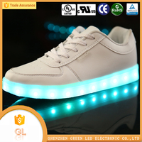 Fashion footwear customized led shoes manufacturer comfortable shoes light up led shoes