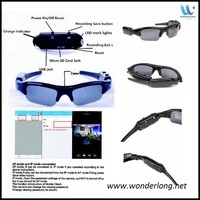 Full HD hidden safety camera glasses wifi video glasses with wireless camera