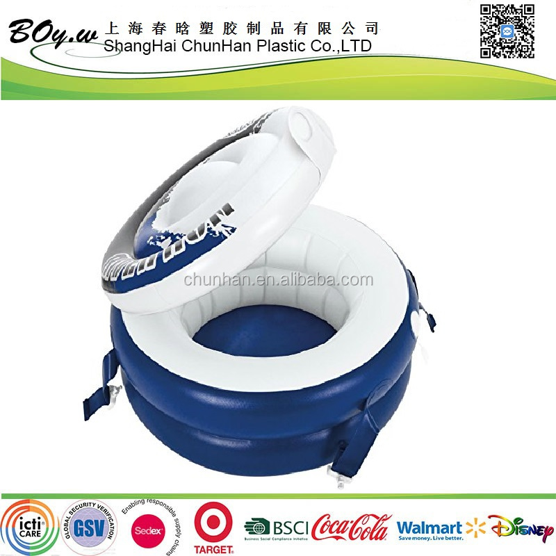 HCCP supplier drink ice bucket round pvc river run connect inflatable floating cooler