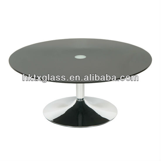 Black glass coffee table / Black glass panel / Black tempered glass top