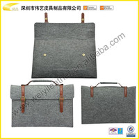 2015 Hot Selling High Quality Fashion Cheap Felt Material Case For Ipad With Handle Custom Felt Material Pouch For Ipad