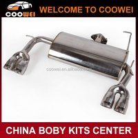 High quality stainless steel material 4-out exhaust pipe for mitsubishi