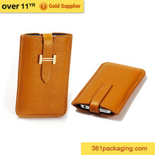 Leather waterproof 5.5 inch mobile phone case
