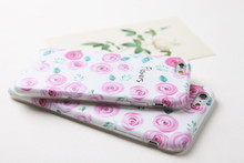 Fashionable fascinating romantic pink rose matte TPU phone case for iphone6 iphone6 plus