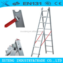 safety aluminium extendable roof ladder