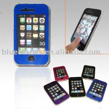 rubberized crystal case with touchable screen protector for iphone 3g