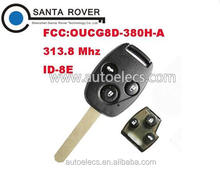 For Honda Keyless Entry 3 Button Remote Key(Japan) 8E Chip