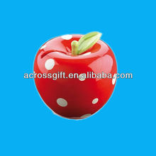 ceramic strawberry desigh money saving banks for promotion