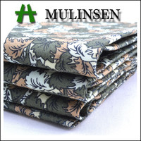 Mulinsen textile 60s light weight cotton sateen floral fabric/ men's shirting fabric