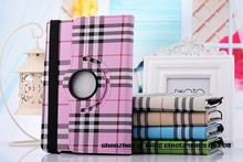 Luxury New Scottish Tartan Plaid Grid 360 Rotation Folio Leather Case Stand Cover for iPad Air 2/iPad 6 9.7inch Tablet PC