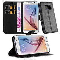Wallet PU Leather Case Cover free sample for Samsung galaxy S7