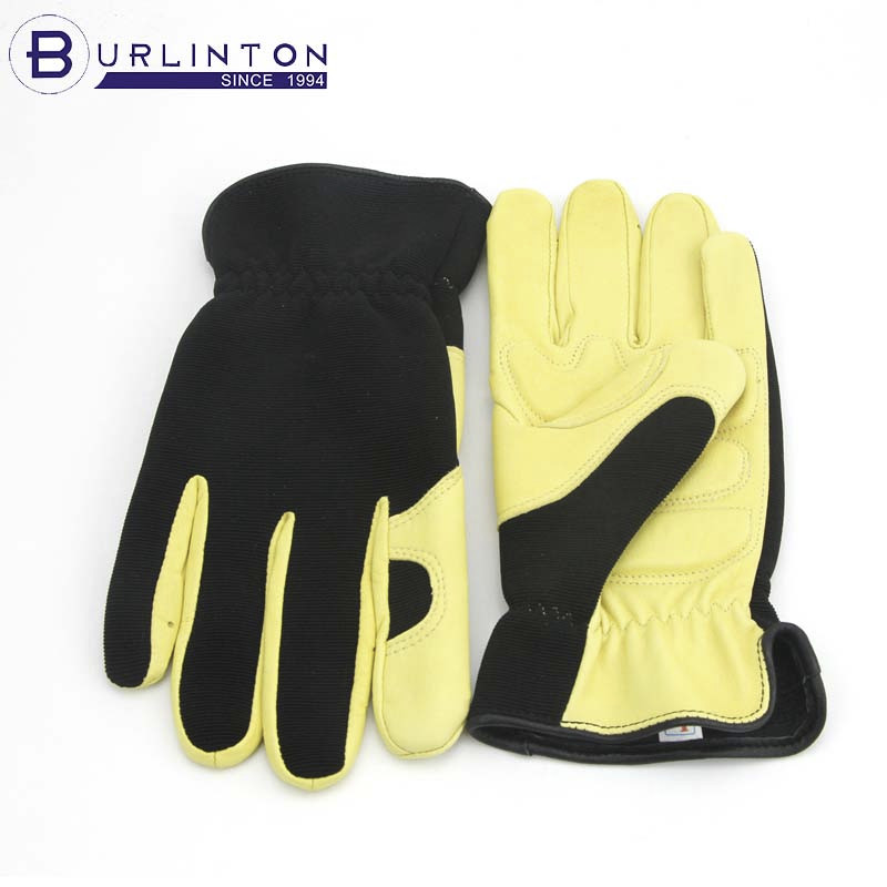 customized production goat skin workers gloves