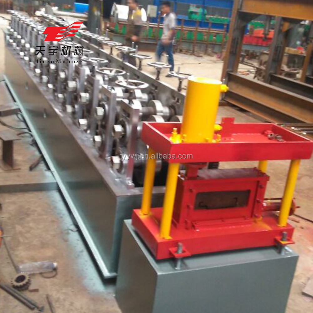 Energy-efficient steel door frame making machine roll forming production line