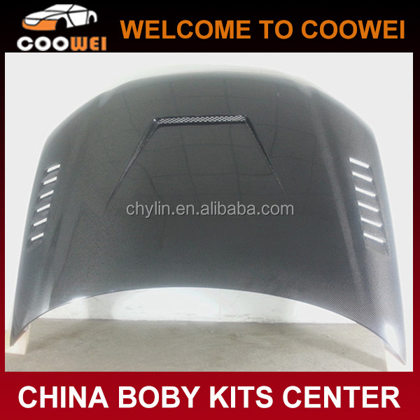 Top Quality Carbon Fiber Material A3 Auto Engine Hood With Vents For Audi A3 07-14