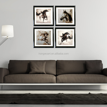Art Hand Painted Large Canvas Wall Art Abstract Horse Oil painting Modern Contemporary Decorative Artwork Framed Ready to Hang