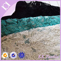 NO.737 Colours fashion lace style 100% Polyester mesh fabric cord flower embroidery ladies clothes fabric