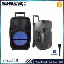 Trolley speaker with battery and wheels,rechargeable trolley portable speaker built in amplifier horn speaker rechargeable