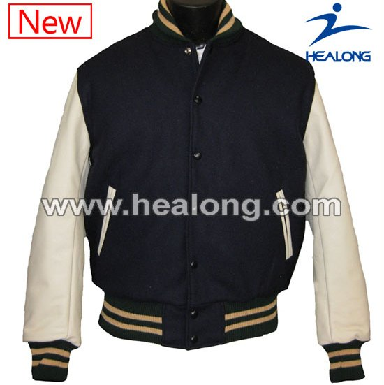 Cheap Custom Varsity Jacket With Leather Sleeves
