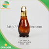wholesale high quality brown glass perfume bottle with lid