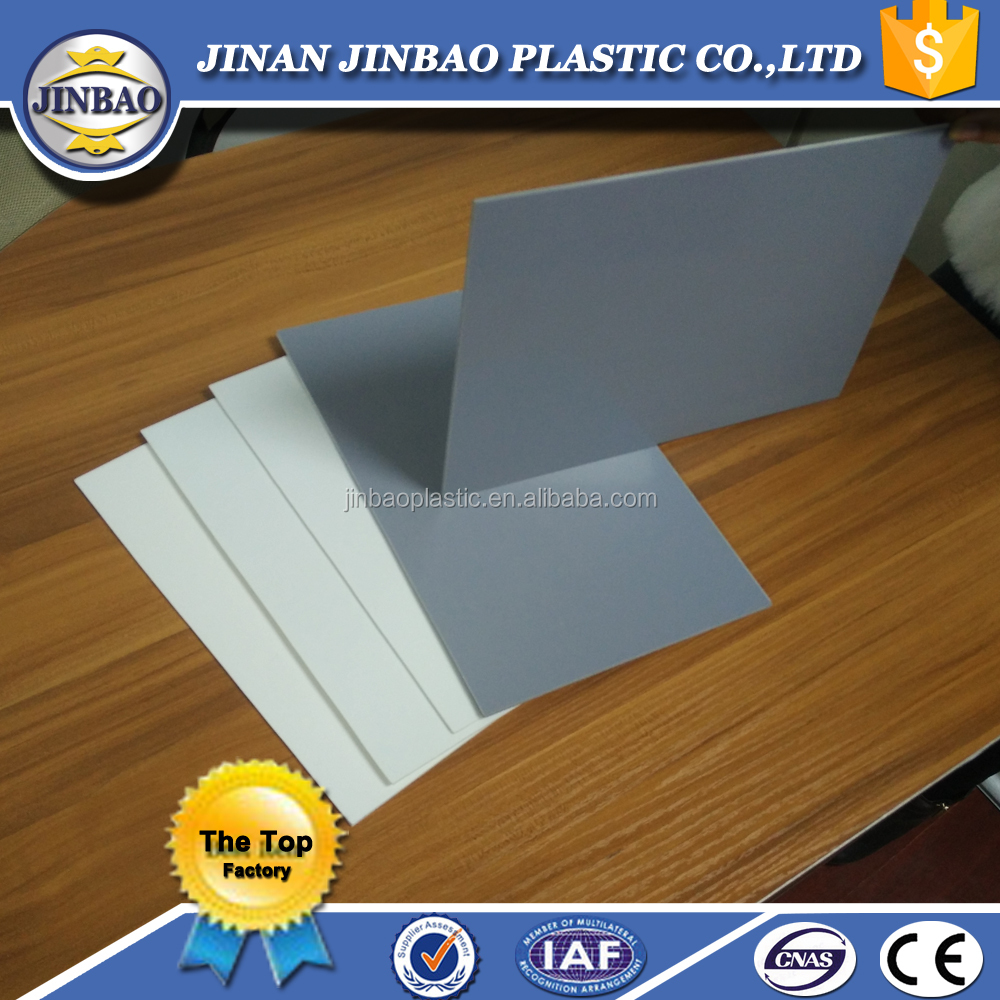 Jinbao extrude 48''x96'' 3mm 5mm sheet rigid pvc plastic suppliers
