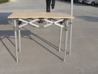 Folding table with Hexagonal frame
