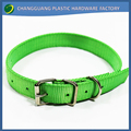 Adjustable & Flexible Custom Size Green Nylon Dog Collars for Dogs