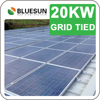 Home Solar System 20KW 20000Watts Solar Power Plant 20KWP 50KWP 100KWP 250KWP PV Plant