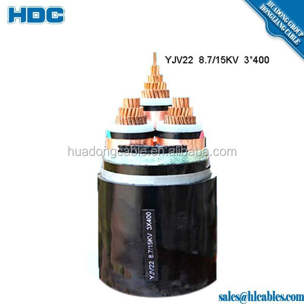 Copper Tape Shield Medium Voltage Cable Cu Conductor XLPE Insulated 12/20KV 21/35KV MT 36KV Cable
