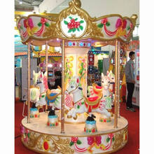 Hot Sale Amusement Park Pony Fairground Whirligig Merry go Round good Used Small 6 Seats Mini Carousel for Sale
